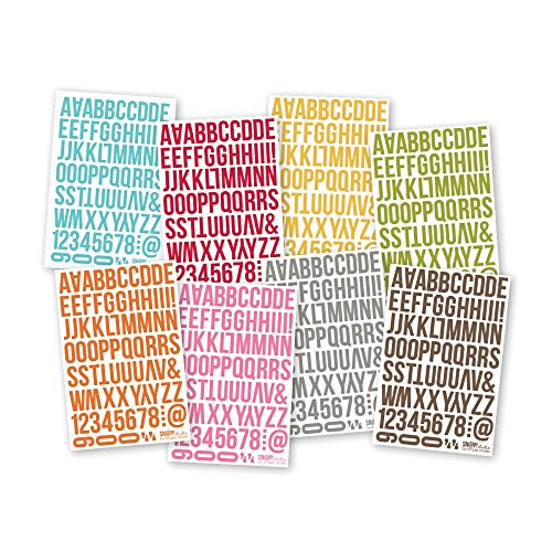 Sn@p! Cardstock Stickers 4.5in X 6.5in Sheets 8/Pkg-letters (Scrapbook Letters Stickers)