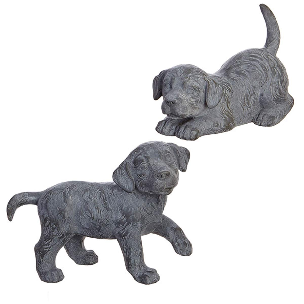 Set of 2 Playful Puppies Statue