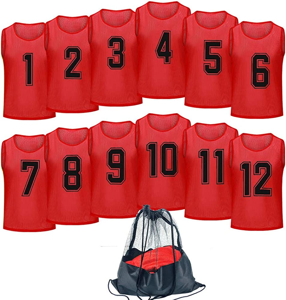 Antoyo Basketball Jersey,Pinnies Adult,Scrimmage Vests for Kids Soccer Training Equipment: Clothing