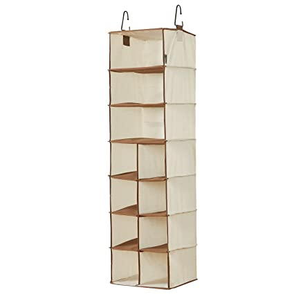 Ordinaire WANNAKEEP 7 Shelf Hanging Clothing Shoe Holder Organizer Wardrobe Closet, 8  Small + 3 Large