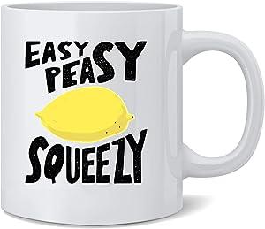 Poster Foundry Easy Peasy Lemon Squeezy Cute Funny Ceramic Coffee Mug Tea Cup Fun Novelty Gift 12 oz