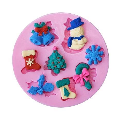 Molde de silicona para tartas, diseño de árbol de Navidad, para fondant, decoración