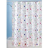 InterDesign Doodle Shower Curtain, Stall, 54x78-Inch, Bright