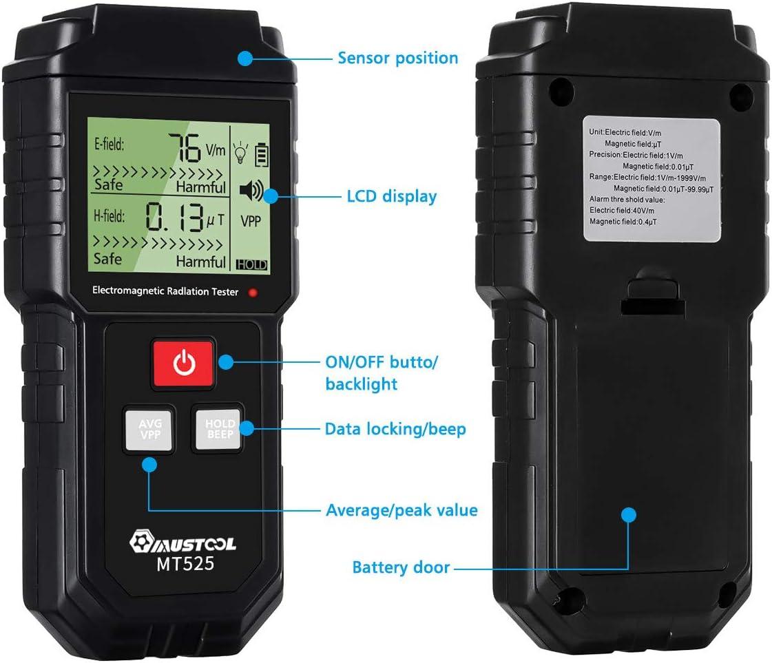 Mustool MT525 - Medidor para radiaciones electromagnéticas, campo ...