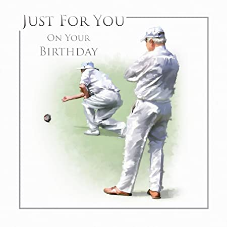 Just For You Playing Bowls Green Gentlemen Design Male Happy