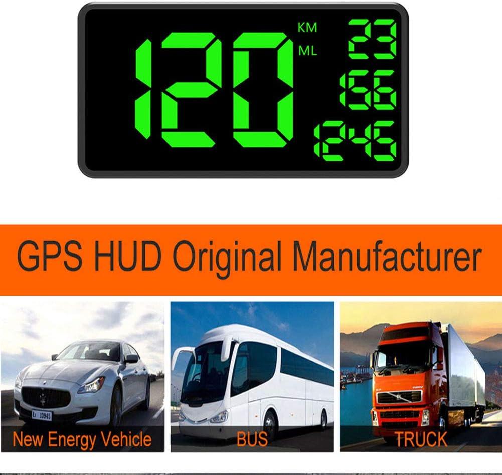 housesweet 6.2 pantalla grande gps de coche velocímetro gps hud head-up display odómetro camión con más de advertencia velocidad de reloj/coche