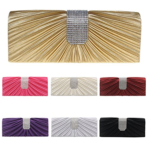 Popular Bag Envelope Satin Clutch Wedding Bridal Evening Padory Handbag Purple Women Prom Clutch Party Rhinestone Shoulder Black xUgqwXOT