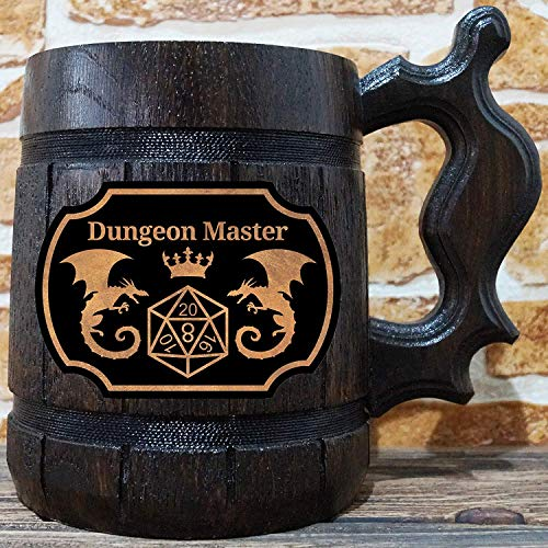 Dungeon Master Beer Mug, Dungeons & Dragons Beer Stein, DM Gift, Personalized Beer Stein, DnD Tankard, Gift for Him, Geek Gift