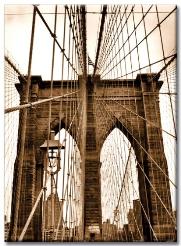 Rope New York - NY Poster Inc Brooklyn Bridge Ropes - New York City Photo Souvenir Refrigerator Magnet - NYC Fridge Magnets