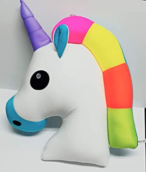 INFInxt The Unicorn Shaped Colourful Pillow for Kids Girl (1 Pc , Random Color)