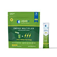 Liquid I.V. Energy Multiplier   Sustained Energy Powder Packets   Matcha and Green Energy Blend Drink Mix   Natural Caffeine   Easy Open Single-Serving Stick   Non-GMO   Lemon Ginger/14 Count