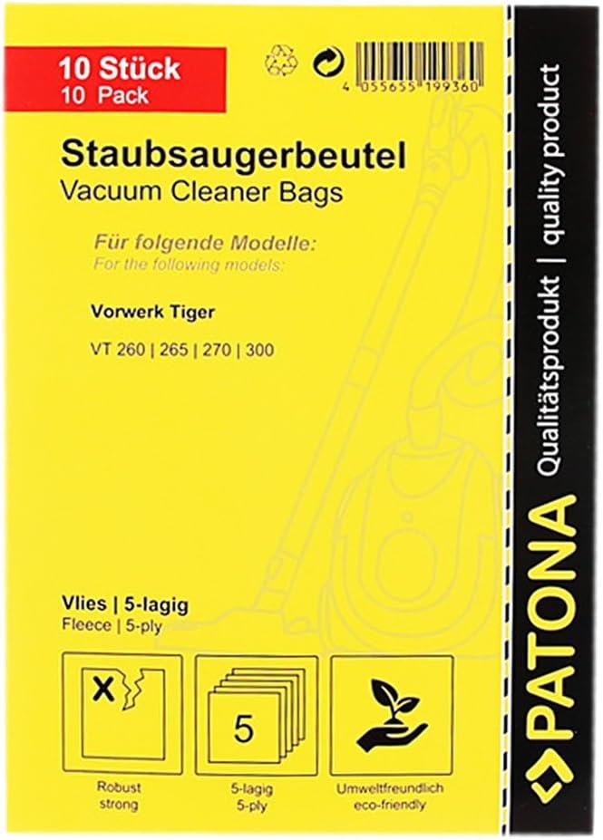Sacchetto 5-strati in vello sintetico PATONA 6x Premium Sacchetti per aspirapolvere compatibile con Vorwerk Kobold VK140 VK150