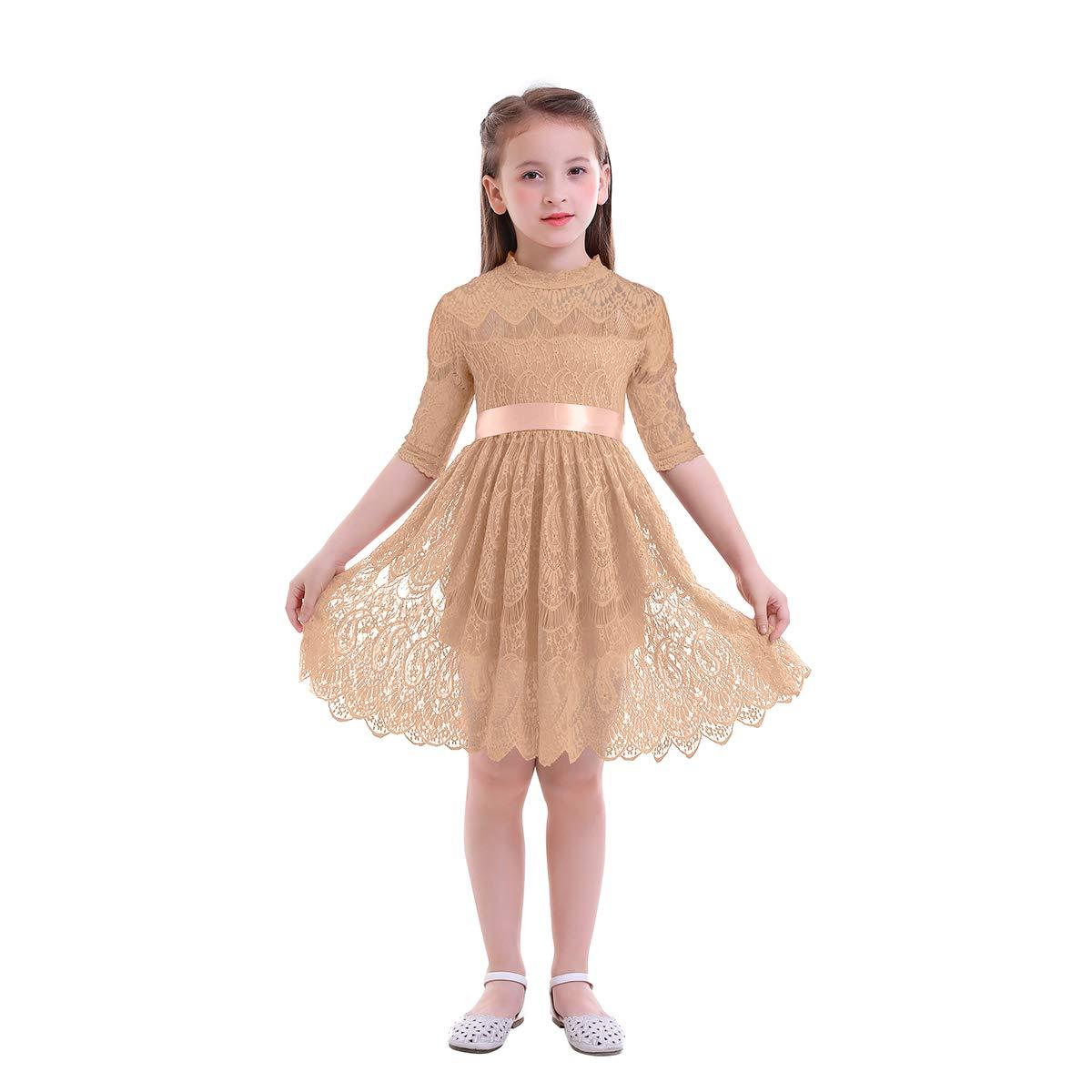 Amazon Owlfay Vintage Lace Flower Girl Dress Boho Toddler