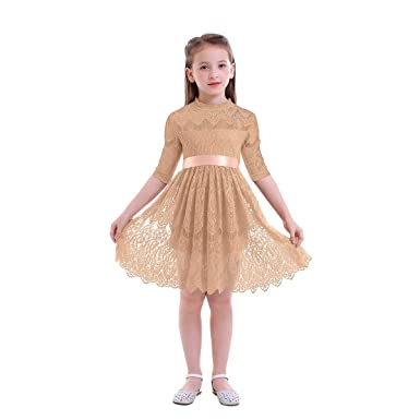 89c65c8b59aa Amazon.com  OwlFay Vintage Lace Flower Girl Dress Boho Toddler ...