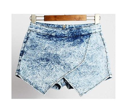 Ruanyi Pantalones Cortos para Mujer Calzado Cruzado apiladas ...