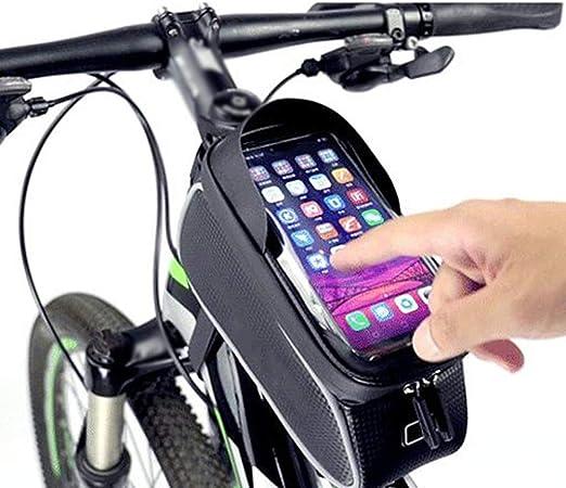 Qmcmc Bicicleta Ciclismo a Prueba de Agua Tubo Frontal Marco Bolsa ...