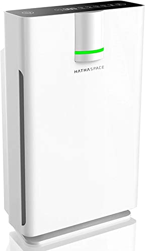 Hathaspace Smart True HEPA Air Purifier 2.0 for Extra-Large Rooms with Medical Grade H13 HEPA Filter, 5-in-1 Home Air Cleaner for Allergies, Asthma, Pets, Odors, Smokers, 1500 Sq Ft Coverage – HSP002