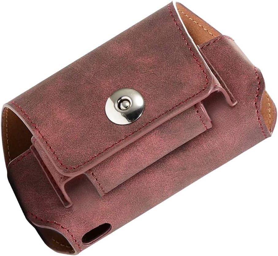 Estuche de Cigarrillo electrónico, Estuche de Cuero de PU pequeño para IQOS 3.0 con Cubierta magnética (Rojo): Amazon.es: Equipaje