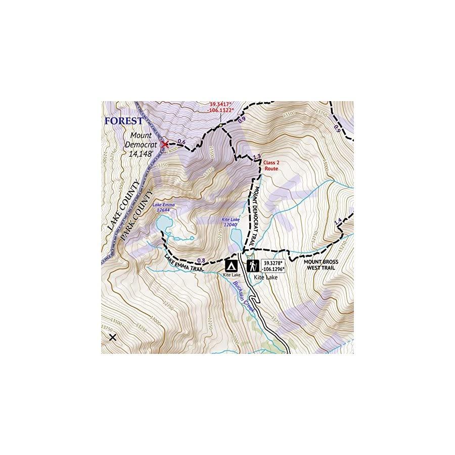 Colorado 14ers Series Front Tenmile Mosquito Range Map Pack