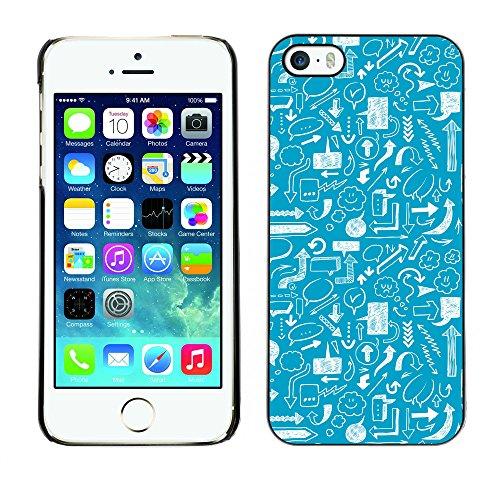 Premio Sottile Slim Cassa Custodia Case Cover Shell // V00002520 flèches Seamless // Apple iPhone 5 5S 5G