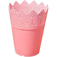 Leisial Multifonction Pot de Fleur en Plastique Style Creux Floral Support Stylo Organisateur de Pinceau de Maquillage