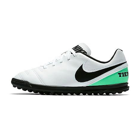 cheaper 46e4d 9d05e Nike Jr Tiempox Fiume III TF – Scarpe Calcio Bambino Bianco Size: 36
