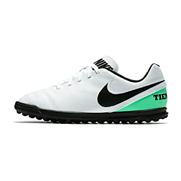JR Tiempo Rio III TF Kids Astro Turf Trainers - White Electro Green ... 3d7f4d32ee022