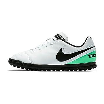 09e80c597 JR Tiempo Rio III TF Kids Astro Turf Trainers - White/Electro Green ...