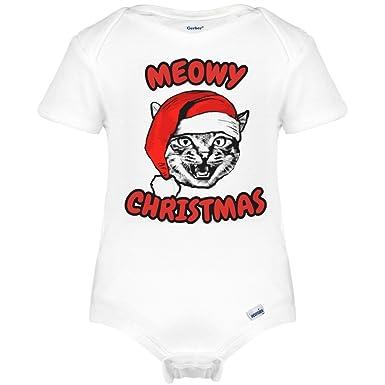 amazoncom meowy christmas onesie infant gerber onesies clothing