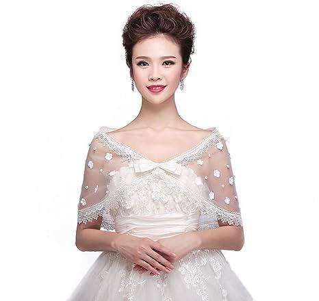 Jungen elegante Wrap scialle Coprispalle bolero stola da sposa mantello per abito  da sposa decorazione decorazione 77b6e59b251