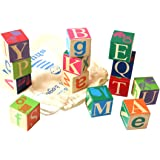 Shumee Wooden Alphabet Blocks Toy Learn Alphabets and Word Building, 2 Years + (6546465, Multicolour)