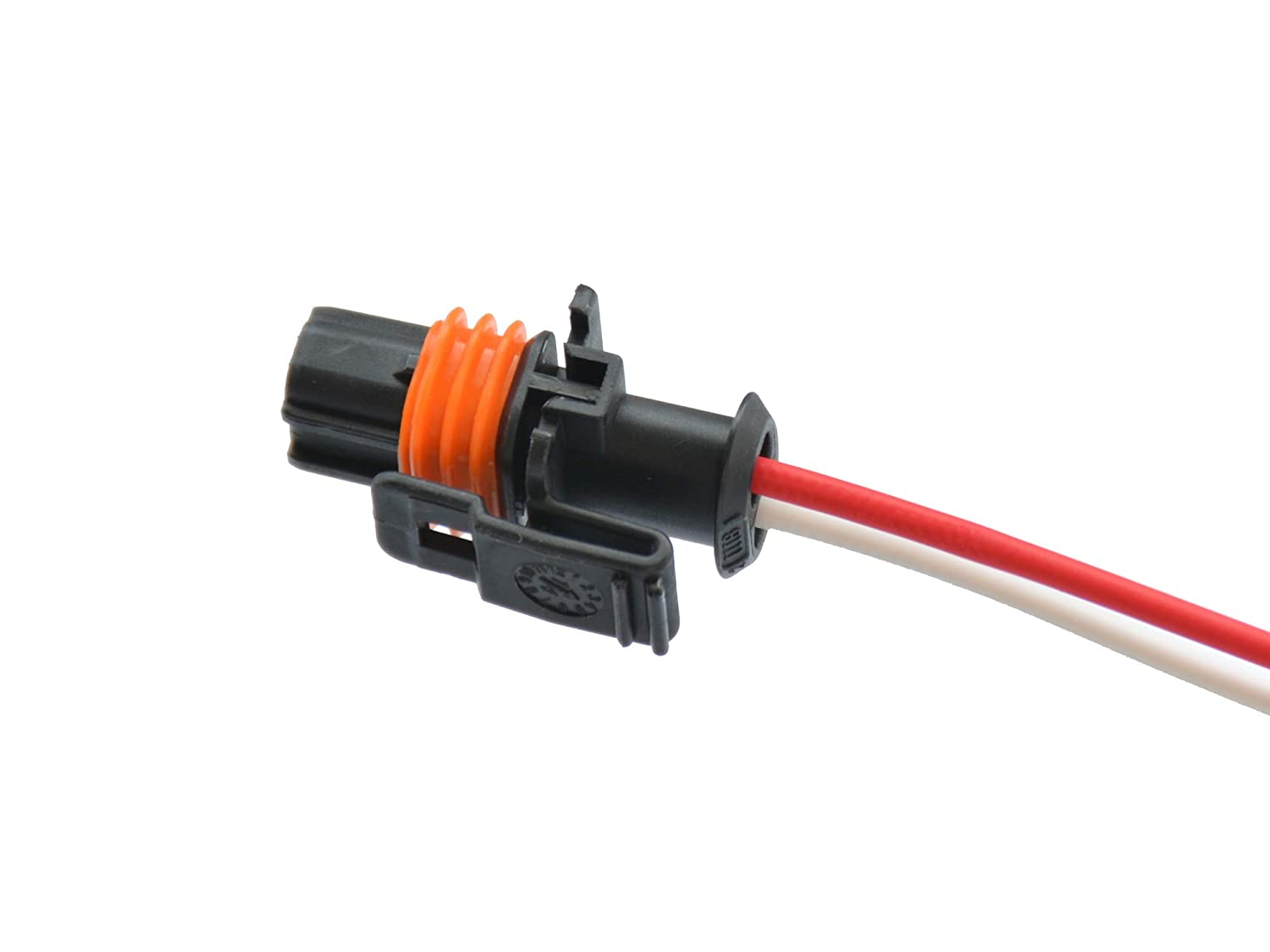 Michigan Motorsports2 Wire Alternator Connector Pigtail Fits DR44G 2005 GM Vehicles 25877026 32400