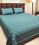 Jaipuri Designer Printed 210 TC Cotton Double Bedsheet with 2 Pillow Covers - Modern, Multicolour