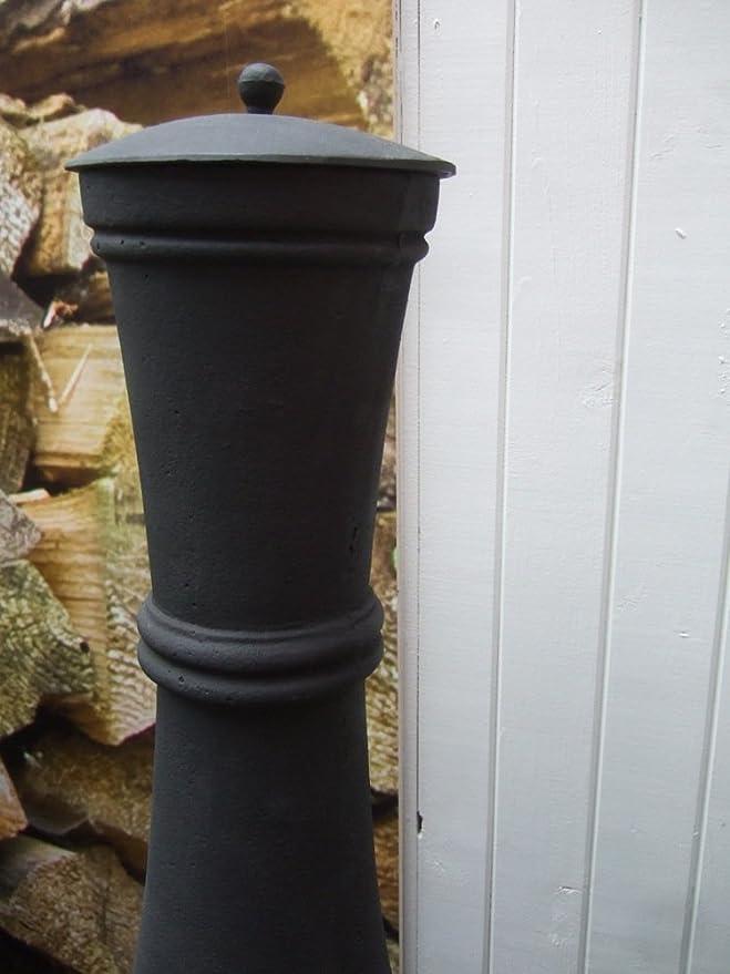 Antikas - estufa de leña para la terraza - chimenea de jardín de hierro fundido - estufa decorativa de 120 cm: Amazon.es: Jardín