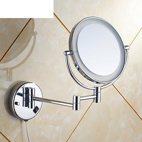 Amazon Com Wall Mounted Lighted Makeup Mirror Folding Mirror