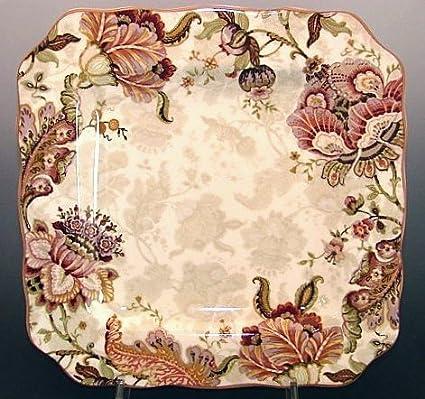Amazon.com | 222 Fifth Gabrielle Cream Dinner Plates, Set of 4 ...