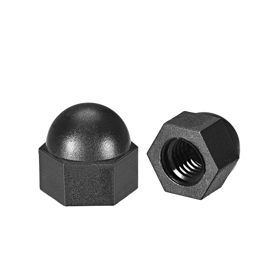 M8 Nut Hexagon Nuts with Dome Head for Screws Screws Bolts Nylon Black 30 Pieces