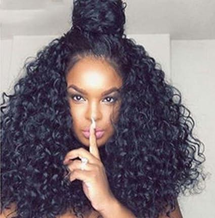 MZP Pelucas sintéticas delanteras del cordón mullidas para las mujeres negras Forme la peluca a prueba