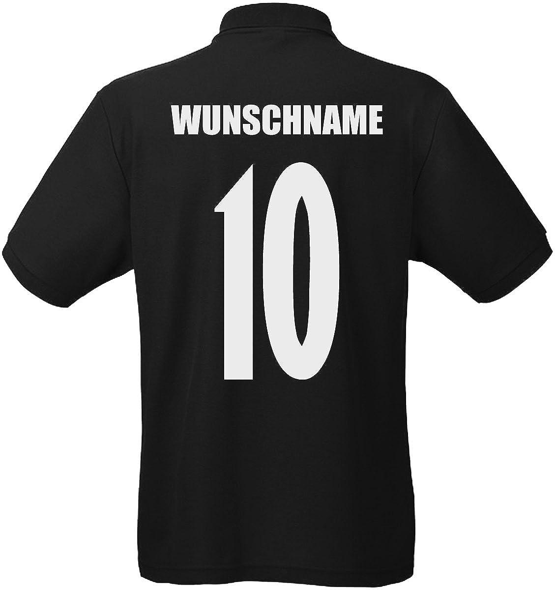 England Polo-Shirt Trikot Wunschname Wunschnummer