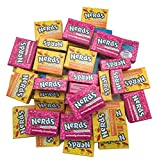 Nerds Candy Wonka Fun Size Nerds Mini Boxes, Strawberry and Lemonade Wild Cherry Assortment by The Online Candy Shop