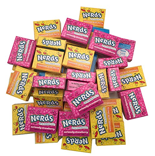 Wonka Nerds Candy Mini Boxes Strawberry and Lemonade Wild Cherry 2 Pound Bulk Candy -
