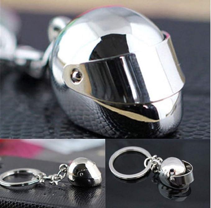 Mode Motorrad Helm Schlüsselring Schlüsselanh?nger motorradfahrer Geschenk ED