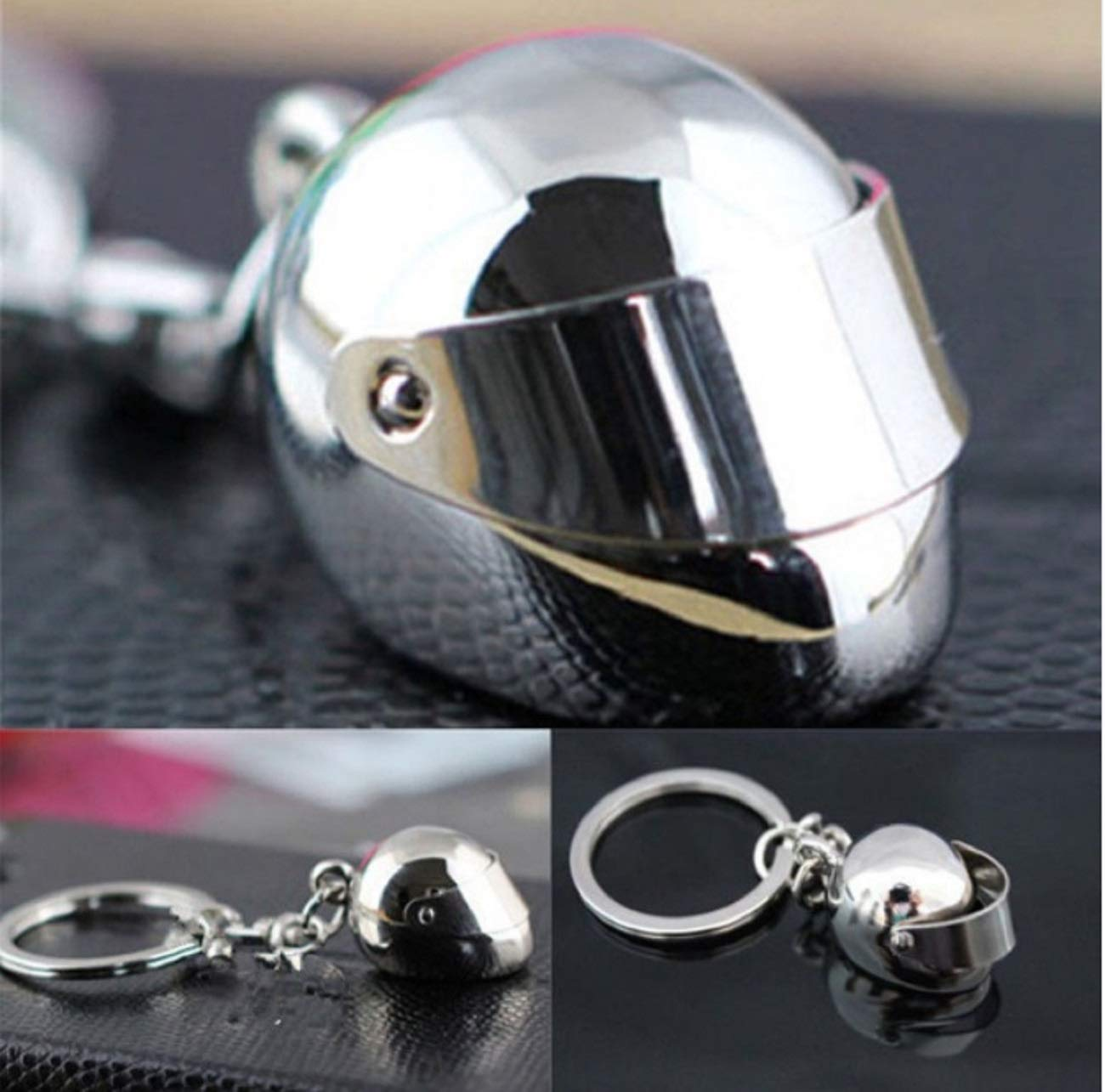 Sportigo® Motocicleta Casco llavero en color plata / regalo ...