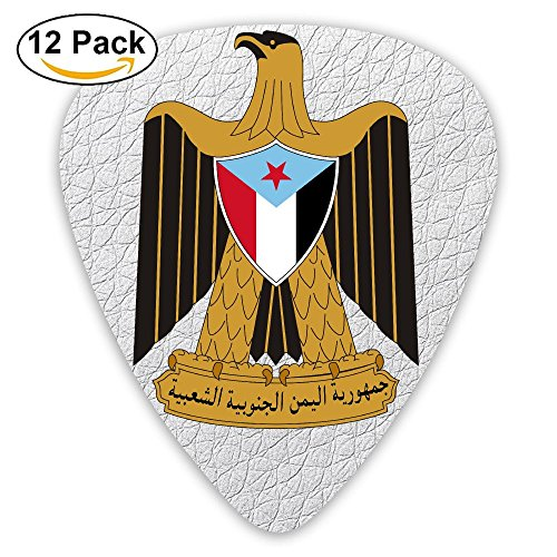 Coat Yemen (12 Pack Coat Of Arms Of Yemen National Emblem Plectrums Guitar Picks Batch Set)