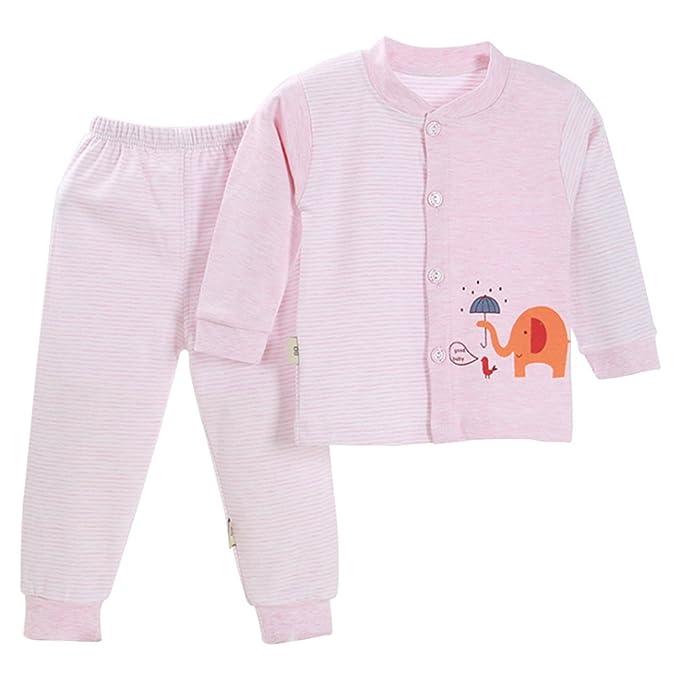 BOZEVON Lindo Animal Impresión Pijamas Set Para Unisexo Niño Minions 3b05bf43685