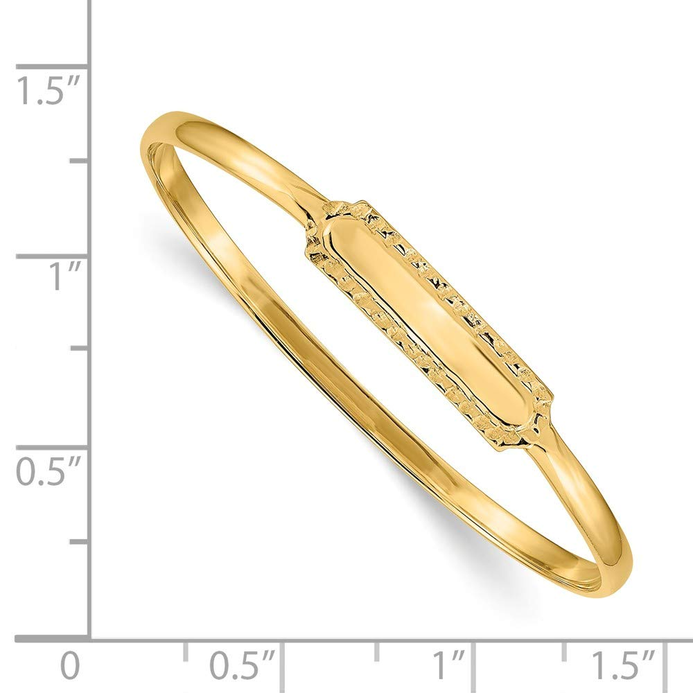 Jewels By Lux 14K Yellow Gold Slip-on 5.5 Baby ID Bangle Bracelet
