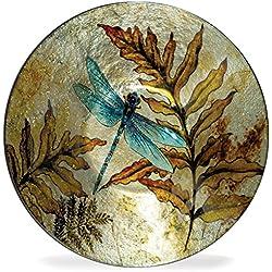 """Angelstar 19161 Dragonfly Spirit Round Plate, 7-1/2"""""""