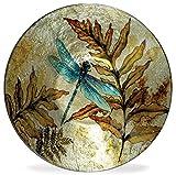 Angelstar 19161 Dragonfly Spirit Round Plate, 7-1/2''