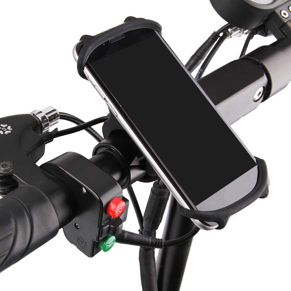 Link-Shine Smart Universal Bicycle Motorcycle Handlebars Adjustable Cell Phone Cycle Holder,4.7in to 6in Bike Phone Holder Fit Smartphone