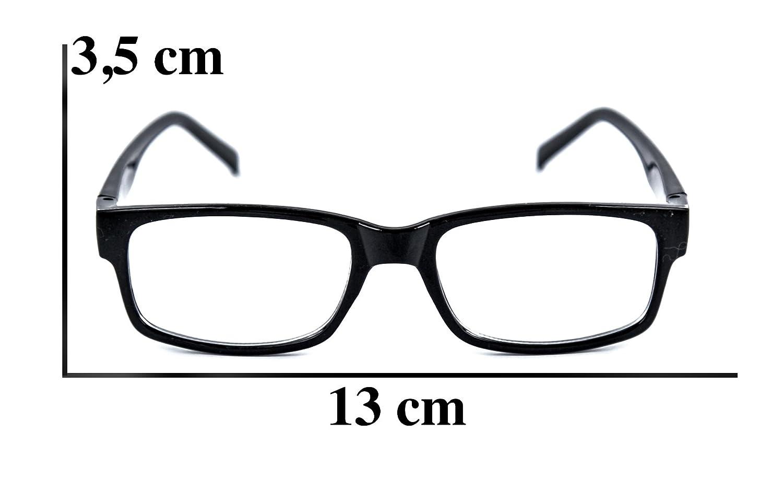 Nerd-Brille schwarz ohne Sehstärke UV-Schutz-400 Slim Fit für Herren ...